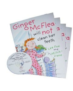 'Ginger McFlea Will Not Clean Her Teeth' Listening Post Set 4 Books & 1 CD