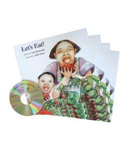 'Let's Eat' Listening Post Set 4 Books & 1CD