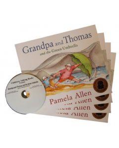 'Grandpa and Thomas and the Green Umbrella' Listening Post Set 4 Books & 1CD
