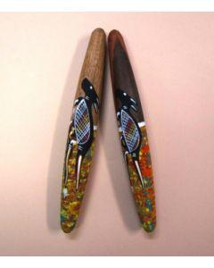 Clap Sticks Hand Painted 30cmL 2pcs