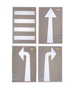 Zebra Crossing & Road Direction Set of 4