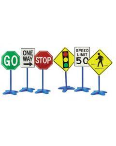 Outdoor Plastic Traffic Signs 6pcs