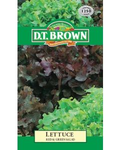 Lettuce Red & Green 1250 Seeds