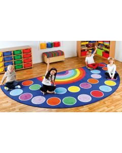 Rainbow Semi-Circular Carpet 4m x 2m