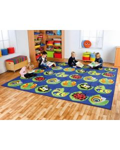 Large Square Bugs Carpet 3m x 3m