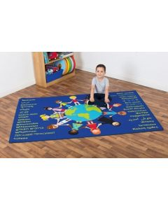 Multicultural Welcome Carpet 1.3m x 2m