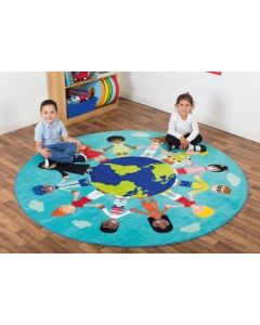 The World Mulicultural Carpet 2m Diam