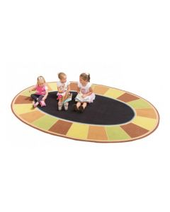 Large Oval Seating Mat 2m x 3m