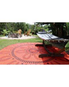 Campfire Aboriginal Design Mat 2.4m Diameter