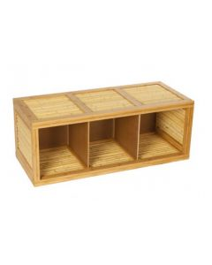 Low Bamboo Storage and Bench Unit