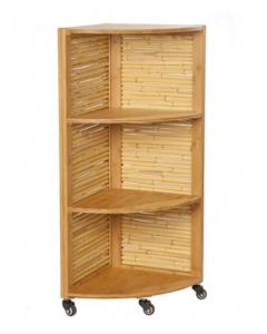 Bamboo 3 Shelf Corner Storage Unit