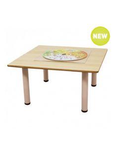 Square Laminated Table 90cmL x 90cmW x 37cmH