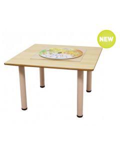 Square Laminated Table 90cmL x 90cmW x 45cmH