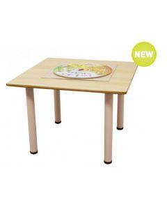 Square Laminated Table 90cmL x 90cmW x 52cmH