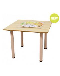 Square Laminated Table 90cmL x 90cmW x 59cmH