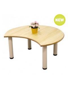 Scalloped Round Laminated Table 90cm Diam x 37cmH