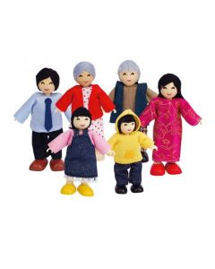 Bendy Asian Family 6pcs