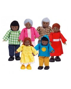 Bendy African Family 6pcs