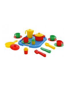 Kitchen Set for 4 On Tray 29pcs