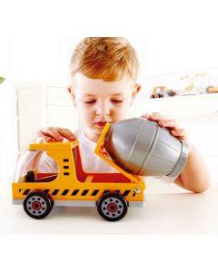 Wood & Plastic Cement Truck 30cmL