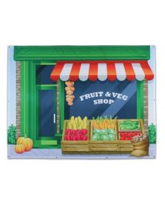 Large Hanging Fruit Shop Backdrop