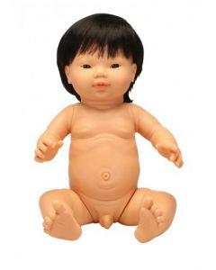 Asian Boy Doll With Hair 42cm
