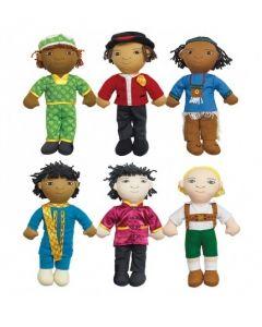 World Friends Boy Dolls Set of 6