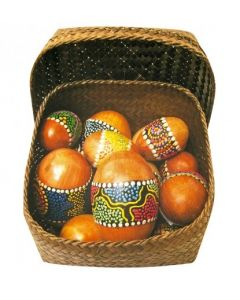 Mahogany Egg Shakers 12pcs