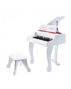 Electronic Deluxe Baby Grand Piano White