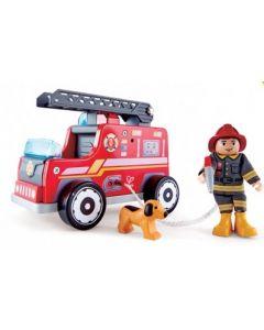 Wooden Fire Truck 20cmL