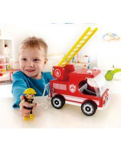 Wood & Plastic Fire Truck 25cmL