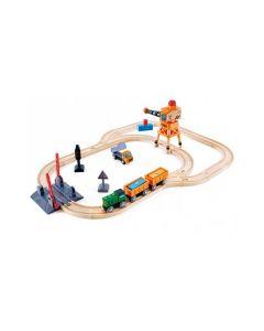 Crossing & Crane Railway Set 34pcs