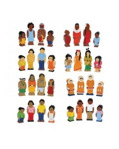 Wooden Families of the World Set 32pcs