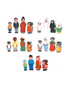 Wooden Families of the World Set 20pcs