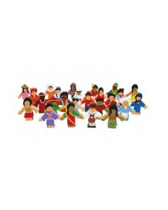 Wooden Children of the World Set 25pcs