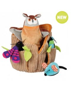 Owl Hand Puppet and Three Finger Puppets
