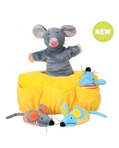 Mia Mouse Hand Puppet and 3 Baby Mice Finger Puppets