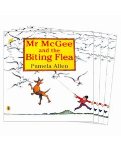 Mr McGee and the Biting Flea Listening Post Set 4 Books & 1CD