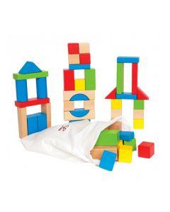Maple Blocks Set in Calico Bag 50pcs