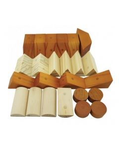 Wooden Magnetic Block Shapes Two Tone 30pcs