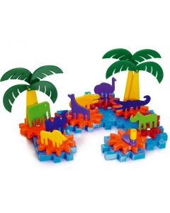 Georello Jungle Gears & Plates 50pcs