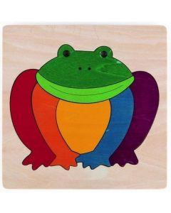 Lucky Rainbow Frog Puzzle 7pcs