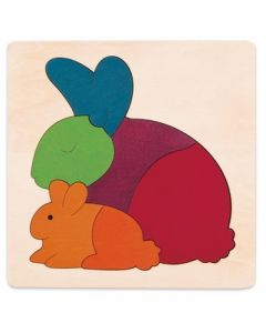 Lucky Rainbow Rabbit Puzzle 6pcs