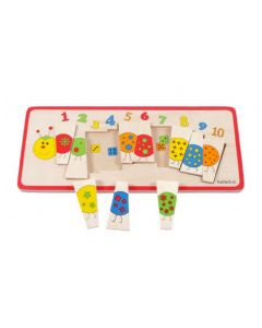 Number Caterpillar Matching Puzzle 10pcs