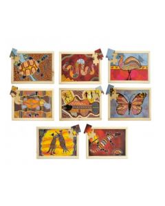 Aboriginal Art Puzzles and Posters Set of 16