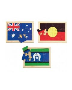 Flags of Australia Puzzle Set of 3