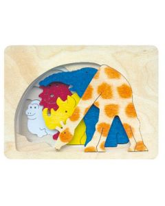 Savannah Animals 5 Layer Puzzle 5pcs