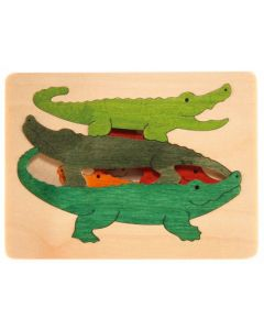 Crocodiles Alive 3 Layer Puzzle 6pcs