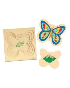 Life Cycle of the Butterfly 4 Layer Puzzle 31pcs