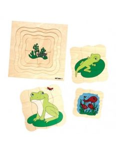 Life Cycle Frog 4 Layer Puzzle 31pcs